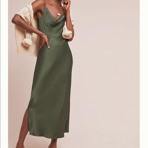 Anthropologie Bias Dress in Green